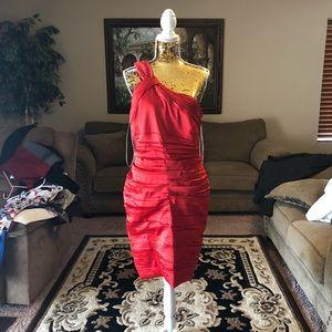 Calvin Klein formal red dress
